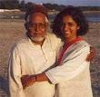 Nishrin with her father, Ahsan Jafri