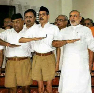 Modi with the RSS
